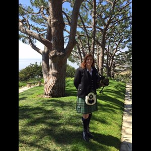 Orange Bagpiper | Chrisy Orcholski - Surf City Piper