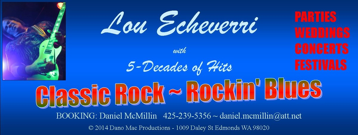 Lou Echeverri with 5-Decades of Hits