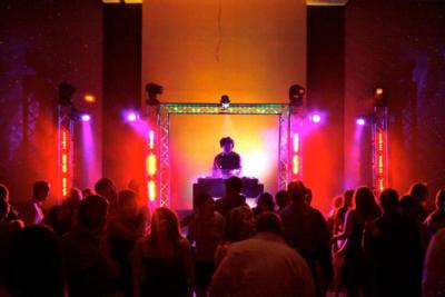 DJ with custom lighting available