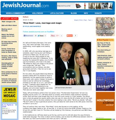 Fun write up in the Jewish Journal