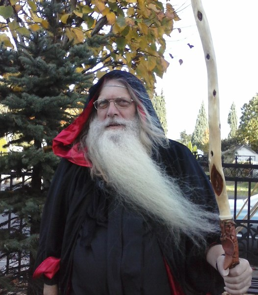 Real Bearded Santa, Wizard, or Father Time - Costumed Character - Eugene, OR