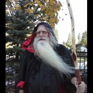 Real Bearded Santa Wizard Or Father Time Costumed