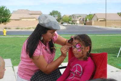 Buttlerfly Face Painting Arizona