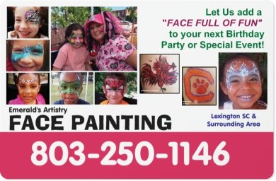 Emerald's Artistry Entertainment  - Face Painter - Lexington, SC