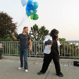 Oakbrook Singing Telegram | Classy Gorilla Singing Telegrams