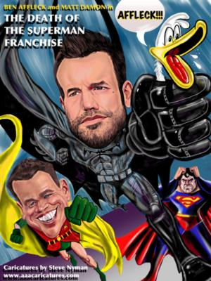 Ipad Caricature of Ben Affleck and
