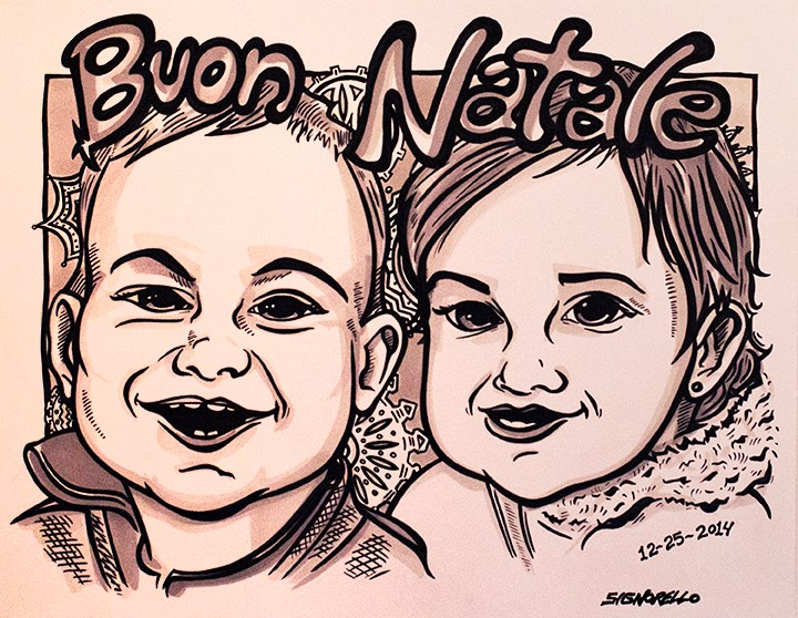 Caricatures also make great gifts.