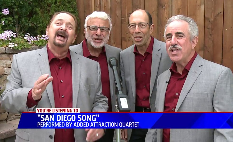 Added Attraction Quartet - Barbershop Quartet - San Diego, CA