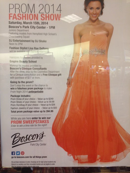 Boscov's Prom 2014 Fashion Show