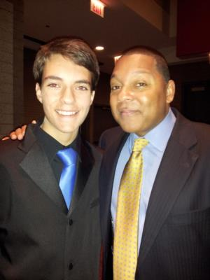 Max Holm and Wynton Marsalis