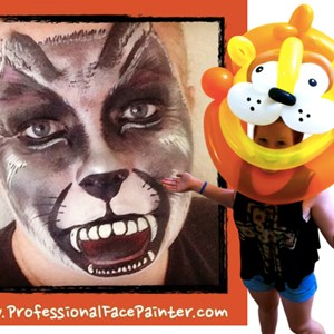 Orange Body Painter | Professional Face Painter & Balloon Twister