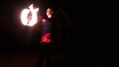 Pyrofin Performers | Houston, TX | Fire Dancer | Photo #15