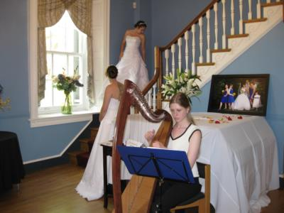 Background music and a bridal fair