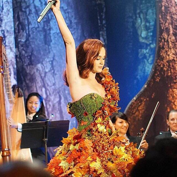 Performing with Katy Perry