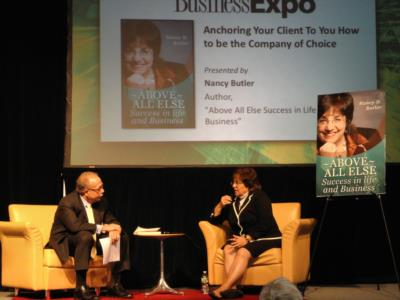 Mass. Business Expo stage interview