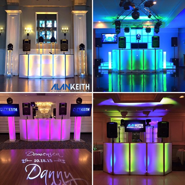 Sample DJ Set Up with Media & Light