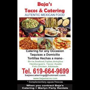 Bajas Tacos & Catering Mexican Food - Caterer - Chula Vista, CA