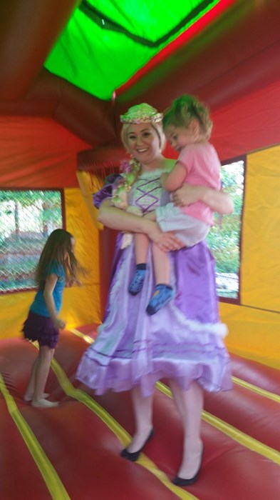 Rapunzel at a birthday party!