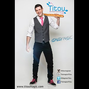 "Santa Barbara Comedy Magician | Titou ""The French Touch of Magic"""