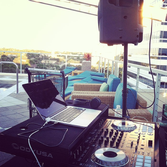 Roof top party in Fort Lauderdale