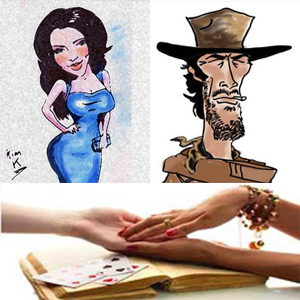 Disney Caricature Art & Gypsy Palm Reader Team - Caricaturist - Huntington Beach, CA