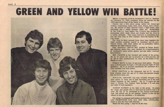 1969. Pete wins Battle of Bands.