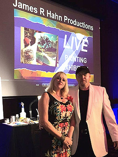 Live Painting Exhibitions - James R Hahn artist - Keynote Speaker - Laguna Beach, CA