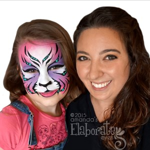 Vermilion Face Painter | Elaborate Eyes Face Painting