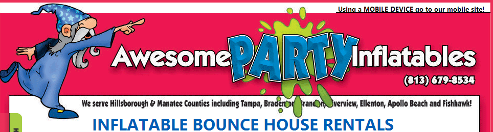 Awesome Party Inflatables - Bounce House - Tampa, FL