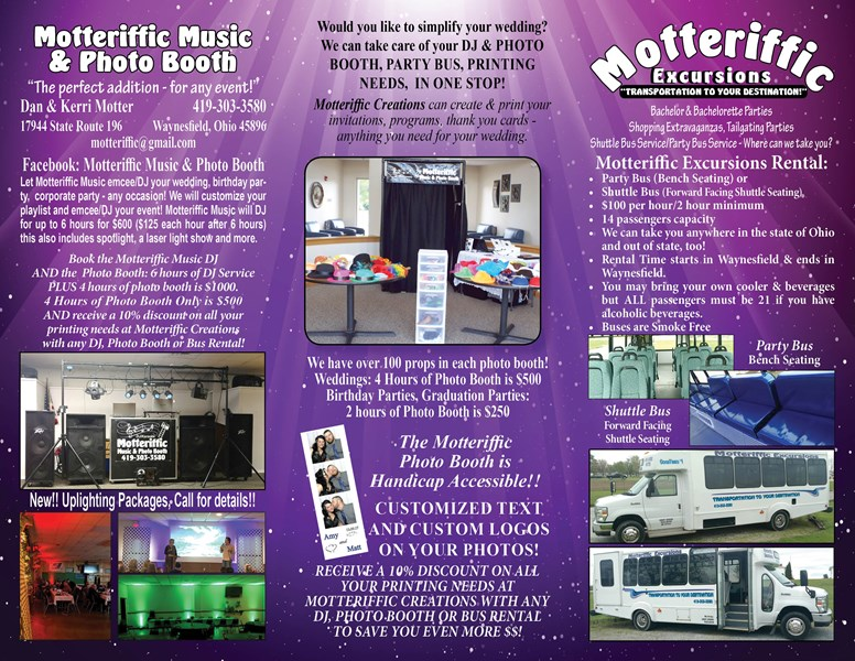 Motteriffic Music & Photo Booth - Photo Booth - Waynesfield, OH