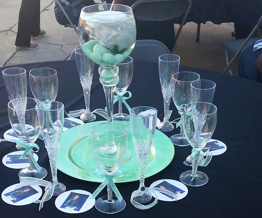 Prom Centerpiece & Custom Coasters
