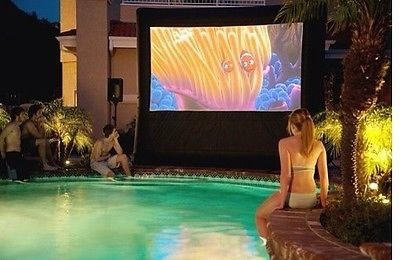 Outdoor movie theater.