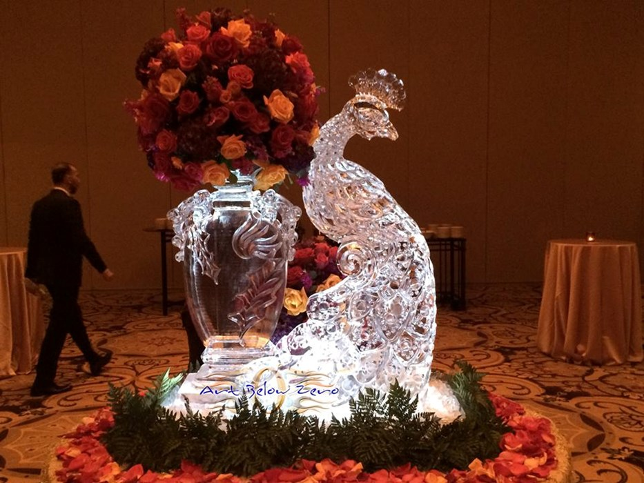 Partnered with an ice sculpture