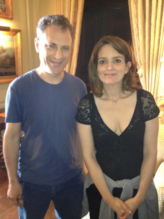 with Tina Fey on set of Admission