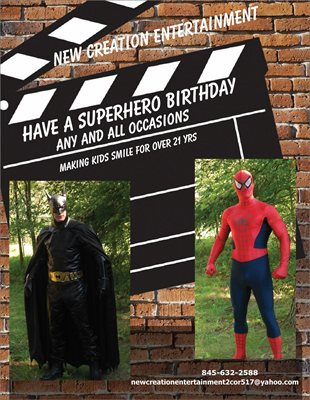 SuperHero to the Rescue - Costumed Character - Wappingers Falls, NY