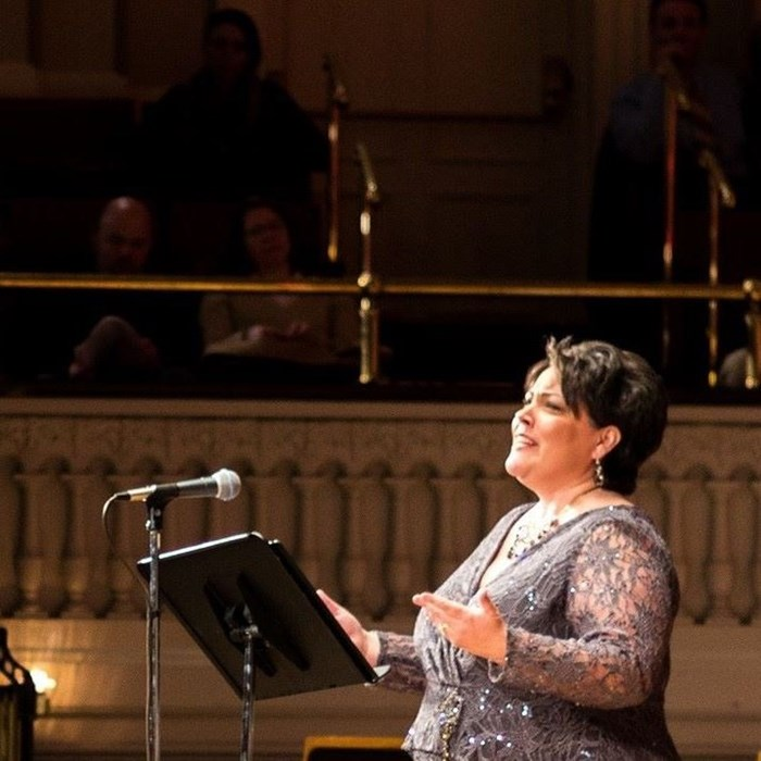 Singing at Mechanics Hall/MA Symp.