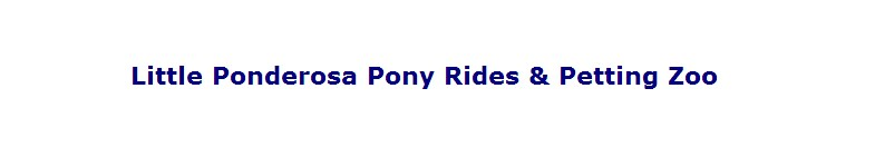 Little Ponderosa Pony Rides
