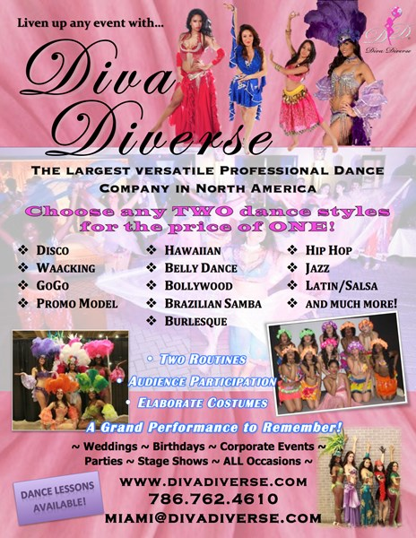 Diva Diverse International Performers - Dance Group - Miami, FL