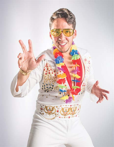 Carlos Rosales as Elvis Presley ('70s) - Elvis Impersonator - Naugatuck, CT
