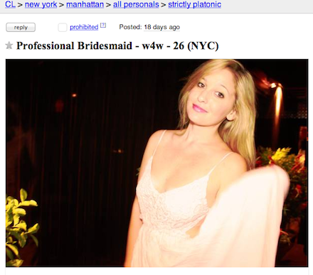 Jen Glantz (Professional Bridesmaid) - Event Planner - New York City, NY