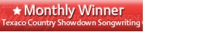2013 Songwriting Monthly Winner