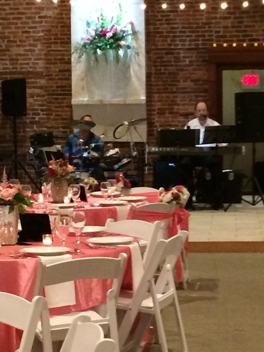 Sound check at the Willis reception