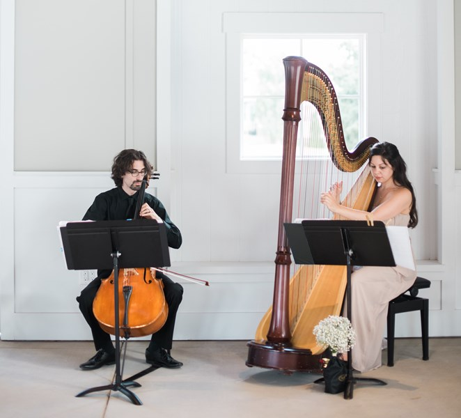 Lily Press, Harp and Simon Linn-Gerstein, Cello - Harpist - Pasadena, CA