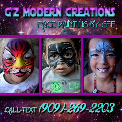 G'z Modern Creations - Face Painting - Face Painter - Moreno Valley, CA