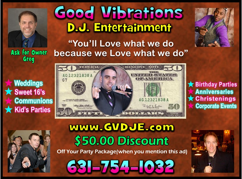 Good Vibrations DJ Entertainment - Mobile DJ - East Northport, NY