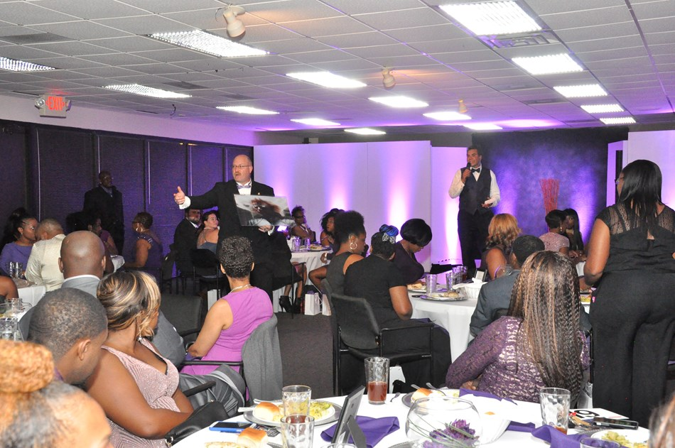 Raising funds @ The Purple Affair