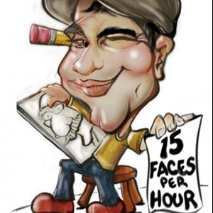 Houston, TX Caricaturist | Luke: The Cartoon Boy