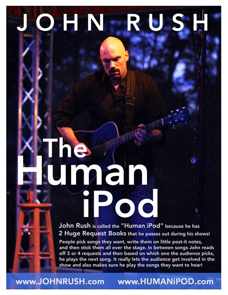 The Human Ipod - John Rush - Singer Guitarist - Hartford, CT