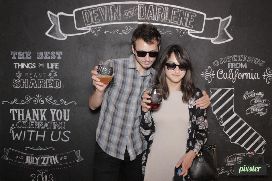 Chalkboard backdrop for photo booth