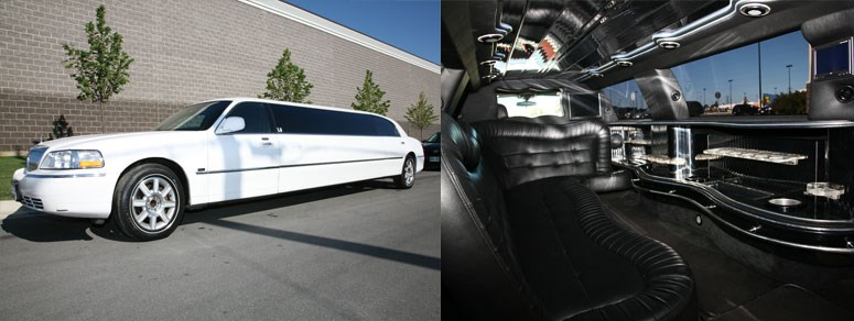 L2 -White 10 Passenger Stretch Limo